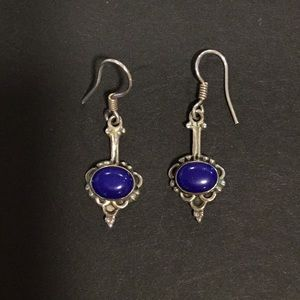 Jewelry - Silver Lapis earrings